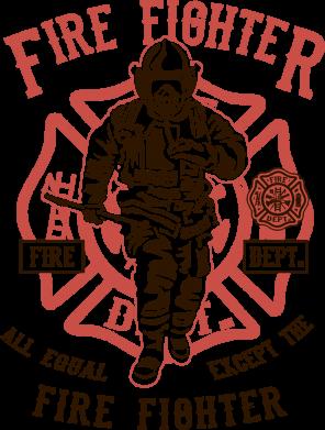Принт Жіноча футболка Fire Fighter, Фото № 1 - FatLine