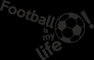 Принт Футболка з довгим рукавом Футбол - моє життя!, Фото № 1 - FatLine
