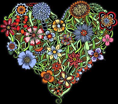 Принт Кепка Flower heart, Фото № 1 - FatLine