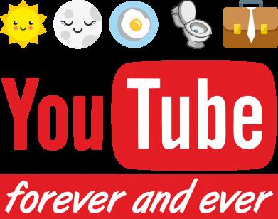 Принт Жіноча футболка Forever and ever emoji's life youtube, Фото № 1 - FatLine