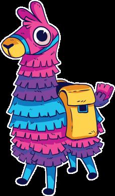 Принт Женская футболка Fortnite colored llama, Фото № 1 - FatLine