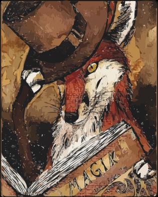 Принт Жіноча футболка Alice fox in top hat, Фото № 1 - FatLine