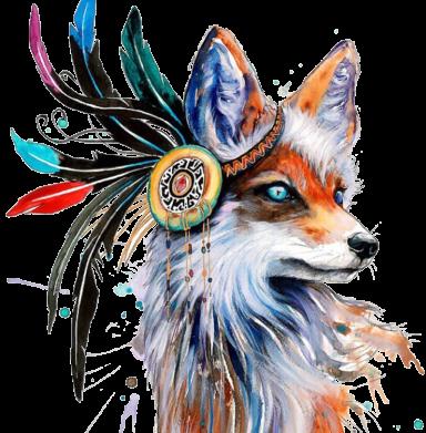 Принт Футболка з довгим рукавом Indian Fox, Фото № 1 - FatLine