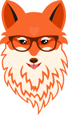 Принт Кепка Fox with a mole in the form of a heart, Фото № 1 - FatLine