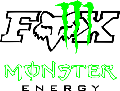 Принт Майка-тельняшка Monster Energy Fox Logo - FatLine