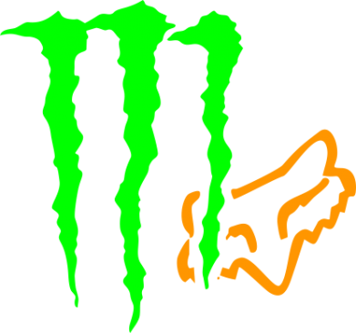 Принт Футболка Поло Monster Energy FoX - FatLine