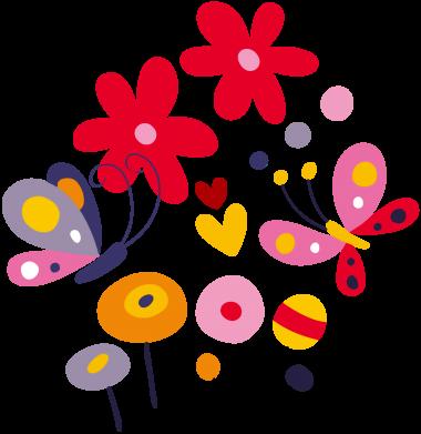Принт Мужская толстовка Flowers and Butterflies, Фото № 1 - FatLine