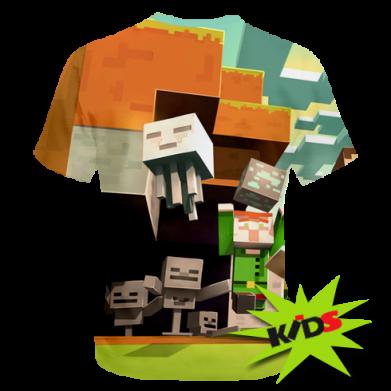 Принт Детская 3D футболка Minecraft1 - FatLine