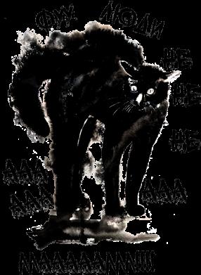 Принт Женская футболка Фу люди испуганный кот, Фото № 1 - FatLine