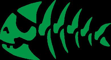 Принт Сумкаскелет рыбки - FatLine