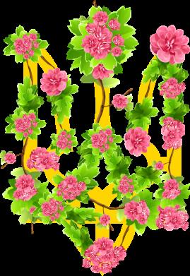 Принт Жіноча футболка Жовтий герб України в кольорах, Фото № 1 - FatLine
