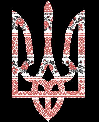 Принт Женская толстовка Герб України з національніми візерунками - FatLine