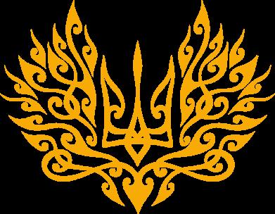 Принт Жіноча футболка Ukrainian trident with a pattern, Фото № 1 - FatLine