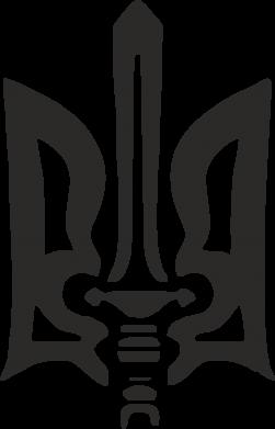 Принт Тельняшка с длинным рукавом Герб з мечем - FatLine