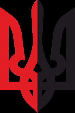 Принт Тельняшка с длинным рукавом Двокольоровий герб України - FatLine