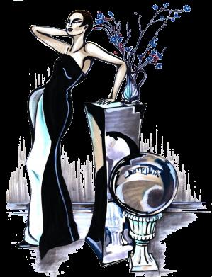 Принт Жіноча футболка Girl in black with a ball, Фото № 1 - FatLine
