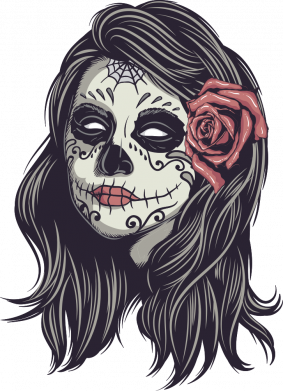 Принт Жіноча футболка Sugar girl with a rose, Фото № 1 - FatLine