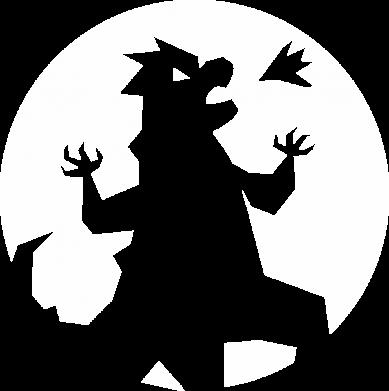 Принт Женская футболка Godzilla and moon, Фото № 1 - FatLine