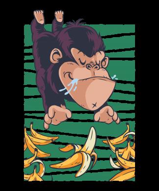 Принт Женская футболка Горилла банана, Фото № 1 - FatLine