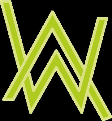 Принт Кепка Alan Walker neon logo, Фото № 1 - FatLine