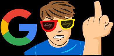 Принт Жіноча футболка Google guy Fuck You, Фото № 1 - FatLine