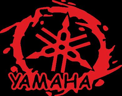 Принт Мужская толстовка Yamaha Moto - FatLine