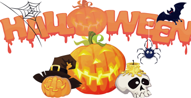 Принт Женская футболка Halloween Logo - FatLine