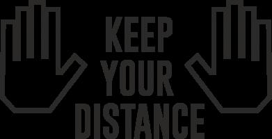 Принт Кружка 320ml Keep your distance, Фото № 1 - FatLine
