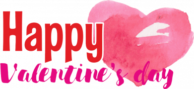 Принт Женская футболка Happy valentines day and heart watercolor, Фото № 2 - FatLine