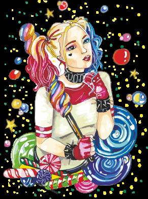 Принт Женская футболка Bright Harley Quinn Vector, Фото № 1 - FatLine
