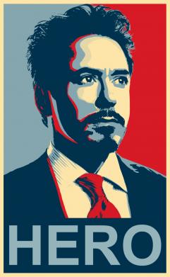 Принт Футболка Stark Hero - FatLine