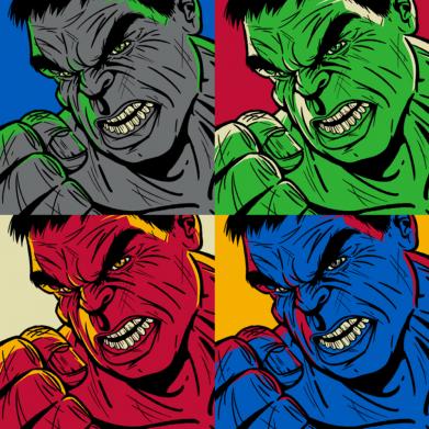 Принт Женская футболка Hulk pop art, Фото № 1 - FatLine