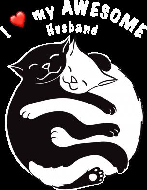 Принт Мужская толстовка Cats and love, Фото № 1 - FatLine