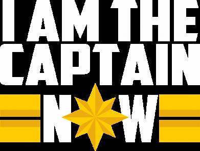 Принт Жіноча футболка I am captain now, Фото № 1 - FatLine