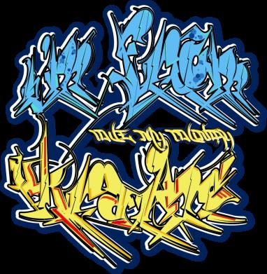 Принт Женская футболка I from Ukraine Graffiti, Фото № 1 - FatLine