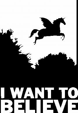 Принт Жіноча футболка Хочу вірити в єдинорогів, Фото № 1 - FatLine