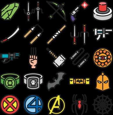 Принт Жіноча футболка Superhero Icon Set, Фото № 1 - FatLine