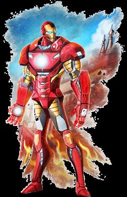 Принт Жіноча футболка Avengers iron man drawing, Фото № 1 - FatLine