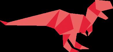 Принт Кепка Origami dinosaur, Фото № 1 - FatLine