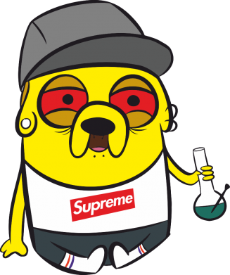 Принт Чехол для Samsung A7 2016 Jake with bong - FatLine