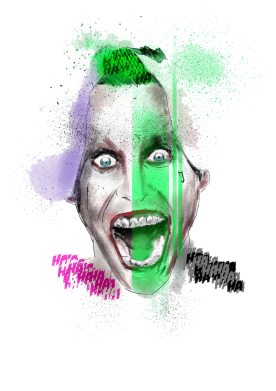 Принт Футболка Поло Joker Jared Leto - FatLine
