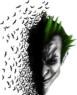 Принт Футболка Поло Joker's Head - FatLine