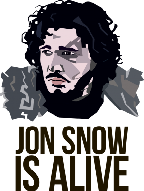 Принт Кружка 320ml Jon Snow is alive - FatLine