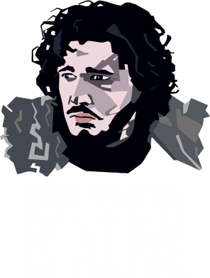 Принт Футболка Поло Jon Snow is alive - FatLine