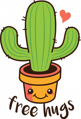 Принт Женская футболка Free Hugs Cactus, Фото № 1 - FatLine