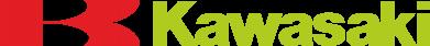 Принт Мужская футболка  с V-образным вырезом Kawasaki Logo - FatLine