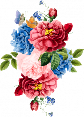 Принт Жіноча футболка Flowers and butterfly, Фото № 1 - FatLine