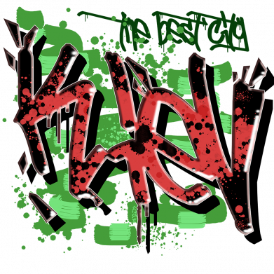 Принт Мужская толстовка Kiev graffiti, Фото № 1 - FatLine