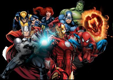 Принт Жіноча футболка Marvel team, Фото № 1 - FatLine