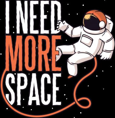Принт Женская футболка Мне нужно больше космоса, Фото № 1 - FatLine